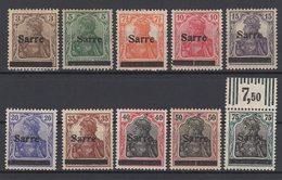 Saargebiet / Freimarken: Marken Des Deutschen Reiches Mit Aufdruck  / MiNr. 3-8, 11-13, 15 - Ongebruikt