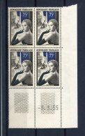 1788 - FRANCE  N°1020   25Fr   La Ganterie   Du  8.3.55  ( Variété Méche Blanche )   TB