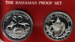 BAHAMAS - 1 & 2 Dollars 1981 FM Proof - KM# 65b & 66b [Rare Types] - Bahamas