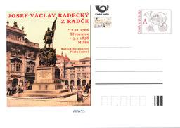 Czech Rep. / Postal Stat. (Pre2016/53) Joseph Radetzky Von Radetz (1766-1858), Austrian Nobleman And Field Marshal