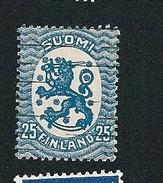 N° 72 Emission D'Helsinki   Lion Héraldique    Timbre Finlande SUOMI (1918  1921  ) Oblitéré