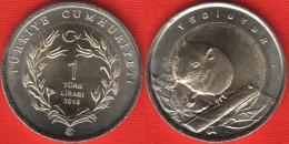 "Turkey 1 Lira 2016 ""Dormouse"" BiMetallic UNC - Turquie"