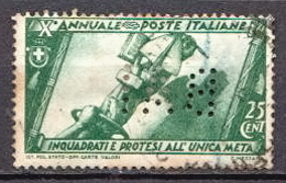 Italy Used Stamp With Perfin - Italy