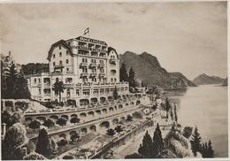 REAL PHOTOGRAPHIC POSTCARD - RHEINGOLD HOTEL ELDORADO - LUGANO-CASTAGNOLA - - TI Ticino
