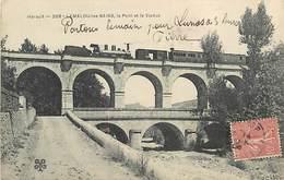 PIE-D-17-269 : CHEMIN DE FER. TRAIN. LAMALOU-LES-BAINS. LE VIADUC - Lamalou Les Bains