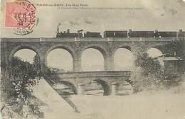 PIE-D-17-270 : CHEMIN DE FER. TRAIN. LAMALOU-LES-BAINS. LE VIADUC - Lamalou Les Bains