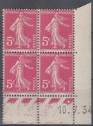 FRANCE  Coin Daté **  Type Semeuse 5c Rose Vif  Yvert 278 B  10.7.34  Neuf Sans Charnière