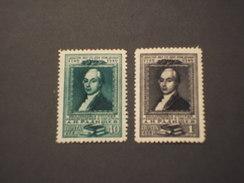 RUSSIA - 1949 SCRITTORE  2 VALORI - NUOVI(+)