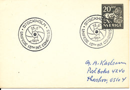 Sweden Small Postal Stationery Cover With Special Postmark Unipede 13th Int. Congress Stockholm 23-6-1964 - Postal Stationery