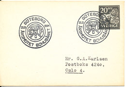 Sweden Small Postal Stationery Cover With Special Postmark STF Arsmötet Bohusaret Göteborg 20-3-1964 - Postal Stationery