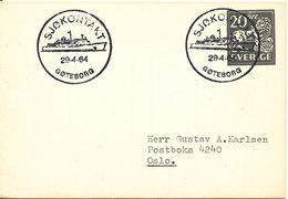 Sweden Small Postal Stationery Cover With Special Postmark Sjökontakt Göteborg 29-4-1964 - Postal Stationery