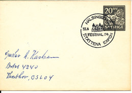 Sweden Small Postal Stationery Cover With Special Postmark Stattena Expon Festival 64 Hälsingborg 30-4-1964 - Postal Stationery