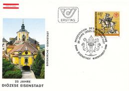 L3218 - Austria (1985) 7000 Eisenstadt: 25 Years Diocese Eisenstadt (Saint Martin On Horseback, Coat Of Arms)