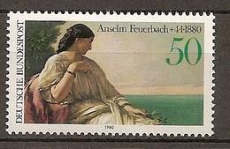 Deutschland 1980, Nr. 1033, 100. Todestag Von Anselm Feuerbach Postfrisch (mnh), Bundesrepublik