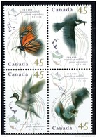 1995  Migratory Wildlife: Butterfly, Birds, Bat  Sc 1563, 65-7 MNH  Block Of 4  With  Spelling Error  Corrected - 1952-.... Reign Of Elizabeth II