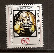 Deutschland 1980, Nr. 1036, 500. Geburtstag Von Götz Von Berlichingen Postfrisch (mnh), Bundesrepublik