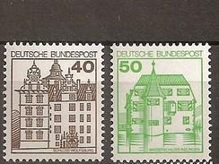 Deutschland 1980, Nr. 1037-38 A, Burgen Und Schlösser Postfrisch (mnh), Bundesrepublik