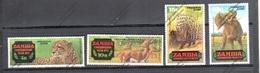 ZAMBIA Nº 77 AL 80 - Roofkatten