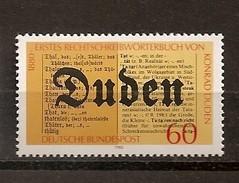 Deutschland 1980, Nr. 1039, 100 Jahre Rechtschreibelexikon Von Konrad Duden  Postfrisch (mnh), Bundesrepublik