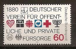 Deutschland 1980, Nr. 1044, 100 Jahre Deutscher Verein Für öffentliche Private Fürsorge Postfrisch (mnh), Bundesrepublik