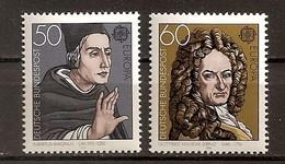 Deutschland 1980, Nr. 1049-50, Europa: Bedeutende Persönlichkeiten Postfrisch (mnh), Bundesrepublik