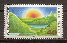 Deutschland 1980, Nr. 1052, Naturschutzgebiete Postfrisch (mnh), Bundesrepublik