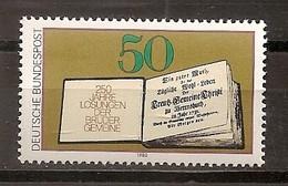 Deutschland 1980, Nr. 1054, 250. Ausgabe Des Losungsbuches Der Brüdergemeine Postfrisch (mnh), Bundesrepublik