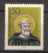 Deutschland 1980, Nr. 1055, 1500. Geburtstag Des Hl. Benedikt Von Nursia Postfrisch (mnh), Bundesrepublik