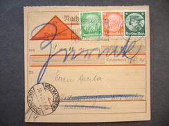 Germany - Nachname Card 1933 - Konstanz Am Bodensee - Wollmatingen (Amt Konstanz), Stamp 5 + 12 + 6 Pf.
