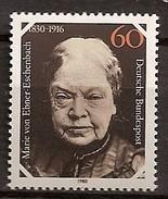Deutschland 1980, Nr. 1057, 150. Geburtstag Von Marie Freifrau Von Ebner-Eschenbach Postfrisch (mnh), Bundesrepublik