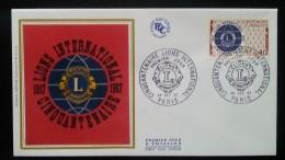 FDC 1967 - YT N°1534 - LIONS INTERNATIONAL - PARIS - FDC