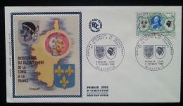 FDC 1968 - YT N°1572 - RATTACHEMENT DE LA CORSE - AJACCIO - FDC