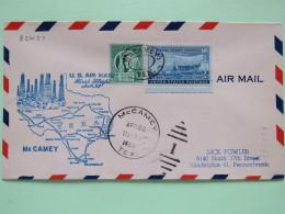 USA 1950 First Flight Cover McCamey (Fort Stockton Back Cancel) To Philadelphia - Map - Petroleum Field - Swedish Pionee - United States