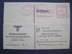 Germany - Postkarte 1940 Berlin - Wien, Freistempel Reichsgesetzblatt Die Grundlegende Rechtsauskunft Reichsverlangsamt