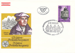 L3229 - Austria (1986) 1150 Wien: 125 Years Protestant Letters (Markus, Johannes, Matthëus, Lukas)