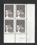 Marianne De Luquet Y&T N° 3444  Coin Daté    Livraison Gratuite - 2000-2009