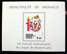 MONACO #1446. 5fr,  Souvenir Sheet - 10th International Circus Festival. MNH (**) - Monaco