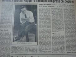 DOMENICA DEL CORRIERE 1958 ROSIGNANO SOLVAY LICUSATI CAMEROTA ETTORE PETROLINI - Altri