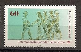 Deutschland 1981, Nr. 1083, Internationales Jahr Der Behinderten Postfrisch (mnh), Bundesrepublik