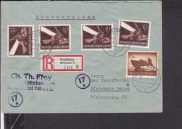Einschreibbrief Deutsches Reich Freiburg Nach Pforzheim 1944