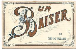 Un Baiser Du CAMP DE VALDAHON - Carte Pailletée - France