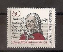 Deutschland 1981, Nr. 1085, 300. Geburtstag Von Georg Philipp Telemann Postfrisch (mnh), Bundesrepublik