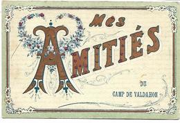 Mes Amitiés Du CAMP DE VALDAHON - Carte Pailletée - France
