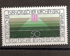 Deutschland 1981, Nr. 1098, Deutscher Evangelischer Kirchentag, Postfrisch (mnh), Bundesrepublik