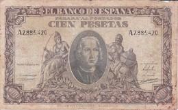 BILLETE DE ESPAÑA DE 100 PTAS DEL 9/01/1940 SERIE A  EN CALIDAD RC  (BANKNOTE) - 100 Pesetas