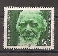 Deutschland 1981, Nr. 1104, 150. Geburtstag Von Wilhelm Raabe Postfrisch (mnh), Bundesrepublik