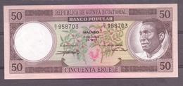 Ecuatorial Guinea  50 Fr  Name Of The President In 3 Words ( Macias ) - Billets