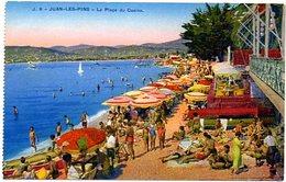 CPSM 06 ( Alpes Maritimes ) - JUAN Les PINS - La Plage Du Casino ( Colorisé ) - Antibes