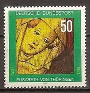 Deutschland 1981, Nr. 1114, 750. Todestag Der Hl. Elisabeth Postfrisch (mnh), Bundesrepublik