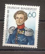Deutschland 1981, Nr. 1115, 150. Todestag Von Carl Von Clausewitz Postfrisch (mnh), Bundesrepublik